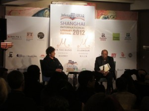 Interviewing Edward P. Jones at the Shanghai International Literary Festival. What a thrill.