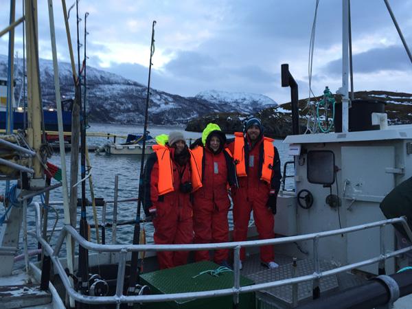 Fishing on the frigid fjord